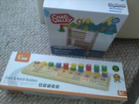 Viga count and match numeracy game maths toy wooden + Abacus maths resources WILL POST