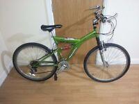 Apollo green unisex bike with 26 wheel size