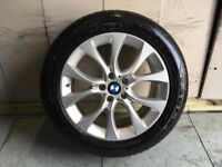 ALLOYS X 4 OF 19 INCH GENUINE BMW 4X4 X5 OR X6 IN EXCELLENT CONDITION WITH GOODYEAR EAGLE FI TYRES