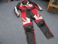 Frank Thomas Motorcycle clothing. Two piece jacket and trousers