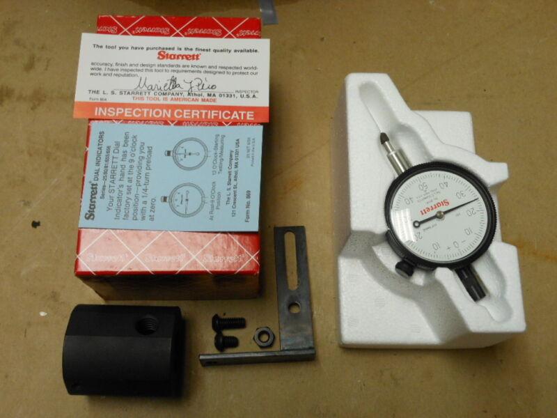 "Starrett Dial Indicator 25-141J Lug Back 0-0.25"" Range / 0.001"" NEW"