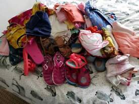 Girls clothes age 3-4/4-5 shoes size8