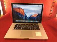 """Apple MacBook Pro A1286 15"""" MC721 500GB, 4GB RAM, i7 Processor, 2011 + WARRANTY, NO OFFERS L40"""