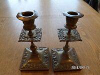 Candlesticks - Antique brass