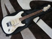 Squier Stagemaster Guitar - Rare White - with Gig Bag