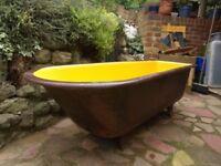 Cast iron roll top bath - garden planter - wedding - party - BBQ - restoration - upcycling