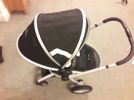 Silver cross surf pushchair, carrycot and ventura plus S group 0 + car seat in black