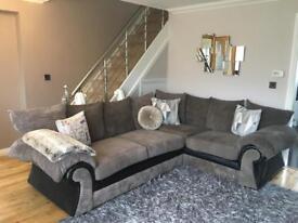 Large corner sofa mink