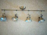 Antique Brass effect 4 Lamp Bar ceiling spotlight