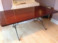 Large heavy solid wooden table, beautiful piece of furniture