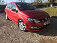 2015 VW POLO RED DSG AUTO petrol 1.2 5dr 11,900 MILES ONLY EXCELLENT CONDITION