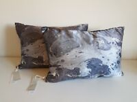 Marble effect pair of cushions