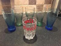 Set of 6 Coca Cola branded glasses