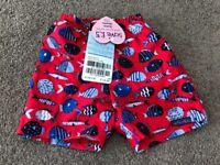 Brand new boys swimming trunks 3-6 months