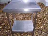 stainless steel work top from commercial kitchen
