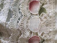 Cream net curtains