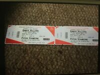 Robbie Williams tickets x 2 standing Cardiff 21st June