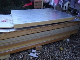 Insulated celotex plasterboard and celotex