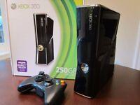 MICROSOFT XBOX 360 S SLIM - 250GB BLACK CONSOLE BUNDLE with KINECT SENSOR