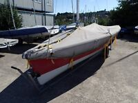 Laser Stratos Sailing Dinghy needs a new home.