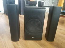 LG SJ7 wireless sound bar and subwoofer for sale