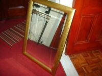 FANTASTIC GOLD LEAF MIRROR 26 INCHES BY 35 INCHES