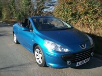PEUGEOT 307 CONVERTIBLE TWIN TOP ONLY 72,000 MILES F.S.H.