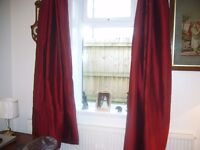Curtains - deep red - NEW