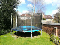 13ft Trampoline in Good Condition for Age with NEW Covers