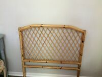 Rattan bed head for single bed