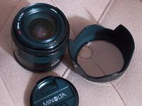 Minolta 28 f2 af lens for sony dslr , free camera