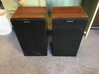Vintage Sony Hifi Speakers - 30w - 8Ohm