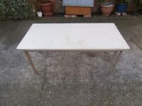 2 x strong fixed leg tables for bbqs or garage + other uses