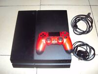 Ps4 500gb Black Red Controller Wires Playstation 4 500gb Black