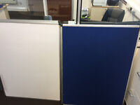 Large Office White Boards and Blue Pin/ Felt Boards (Bi-Office) 120x90cm