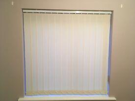Vertical blind (ivory/cream) 1145mm (w) 1145mm (h)