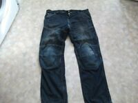 Route One motorbike jeans no rip