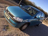 2003 Vauxhall Corsa 1.2 cc VERY clean LONG Mot cheap insurance good irst car