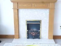 Electric fire suite, great condition.