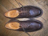 TRICKERS Brogues Burton Country, UK size 7, bordeaux