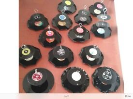 13 Cake Stands, made out of old records