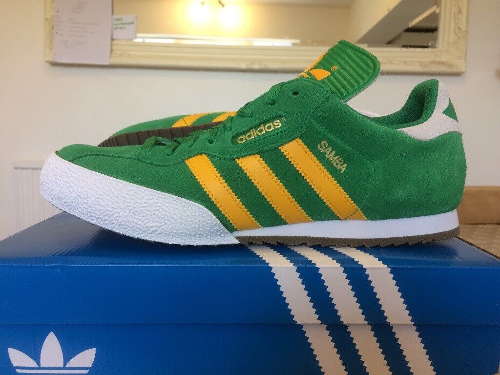best supplier outlet store various design Adidas Samba Super Originals Green/Yellow - Brand New in Box - Size 9 | in  Malvern, Worcestershire | Gumtree