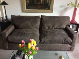 William Yeoward 3-Seater Sofa upholstered in Pierre Frey suede-effect fabric