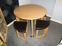 37 inch round table & 4stools, fair condition