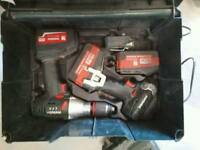 Battery drill set metabo