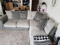4 seater sofa, with a stool