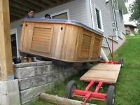 Barrie's Hot tub movers.  Hot Tub Moving