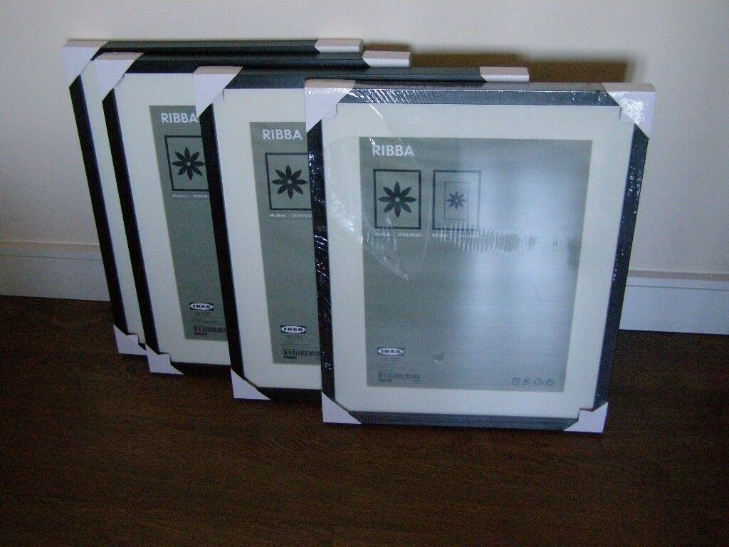 Ikea Ribba Photo Frames New 40x50 Cm 4 Black 3 Free Used