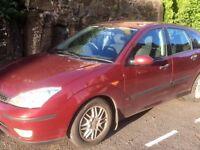 Ford focus 5 doors petrol, great running car, good condition, recent MOT, low price