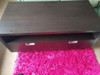 Solid Brown Wooden TV Stand/Bench